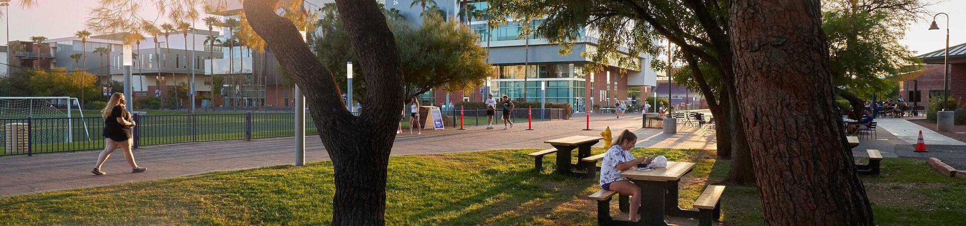 GCU Campus with students walking around